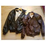 Pair Of Leather Jackets Type A-2 Flight American B