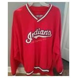 Xl Red Cleveland Indians Jacket Windbreaker