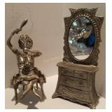 1997 Drumm Pewter Topless Woman W. Vanity
