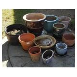 Ceramic Outdoor Planters & Rolling Bases