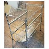 Small Metal Stand W/ 2 Pull Out Drawers