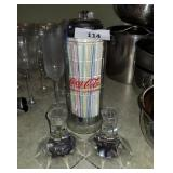 Coca-Cola Straw Dispenser & Candle Sticks