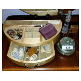 Organizer W/  Perfume, Necklace, Powder Box
