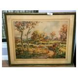 John Hare Original Large Framed Water Color