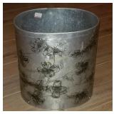 "Wendell August Aluminum Trash Can 10"" Tall"