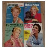 4 Vintage Movie Magazines