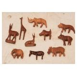 Miniature Hand Carved Wood Animals