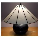 "Glass Shade Lamp 17"" Tall"