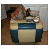 Storage Ottoman W/ Sewing Supplies, Lap Table