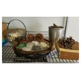 Decorative Lot Pine Cones & Shells