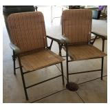 2 Padded Folding Outdoor Chairs