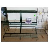 Metal Plant Stand And Metal DVD Rack