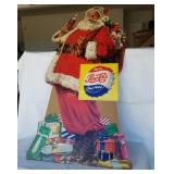 Vintage Pepsi Santa Claus Store Display