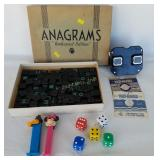 View Master, Pez, Anagrams Embossed Set