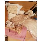 Box Full Of Lace Table Clothes & More