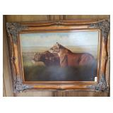 Original Lioness Oil Painting By P. English