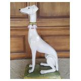 Large Approx. 3 Ft. Tall Porcelain Dog Statue