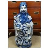 """26"""" Tall Signed Porcelain Chinese Statue"""