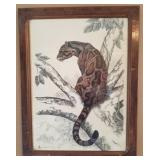 Clouded Leopard Print Signed By Samaraweera