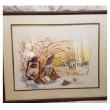 Glass Framed Signed Print By Patrick Costello
