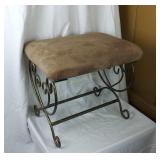 Columbia Frame Brass Base Padded Chair