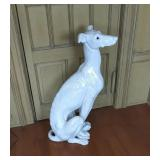 Large 3 Ft. Tall Heavy Porcelain Greyhound Statue