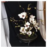 Faux Water Lilies Decorative Stand Art 2 Ft. Tall