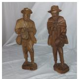 """Big G Wood Carved Figures, 11.5"""" Tall"""