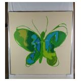Large Butterfly Framed Canvas Picture