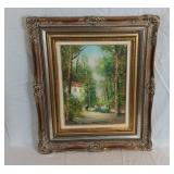 Framed Original Oil Painting By J. Colletti