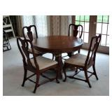 4 Chairs W/ Ornate Table Doesn