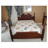 Ecker-Shanes Full Size Bed Frame, Sealy Mattress