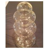 """17"""" Tall Curvy Glass Container"""