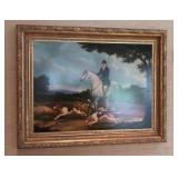 Framed Original Oil Painting Foxhunt By T. Fillans