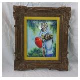 Framed Enamel Painted Art Signed By Mingolla