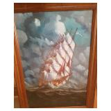 Framed Ship Print By Anderson