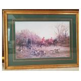 Glass Framed Litho Repro By Heywood Hardy