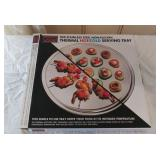 Oggi Corp St. Steel Hot/ Cold Serving Tray W/ Box