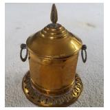 """7"""" Tall Lidded Brass Container Made In Morocco"""