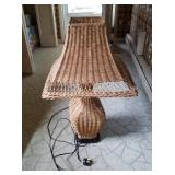 """28"""" Tall Wicker Table Lamp"""