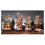 Lot Of 4 Depose Italian Marble Pirate Statues