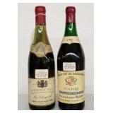 2 Bottles 1961 62 Hermitage Volnay Queen Mary Wine