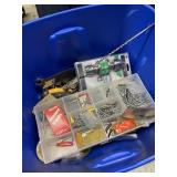 Tub Of Screws And Miscellaneous Tools