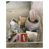 Bin Of Door Pulls And Miscellaneous