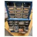 Two Tool Cases With Screws And Miscellaneous