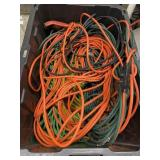 Bin Of Extension Cords And Jumper Cables