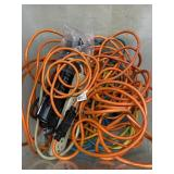 Bin Of Electric Cords And Power Strips