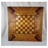 Vintage Folding Checkerboard Top Table