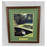 Framed Augusta 12Th Hole Golf Print