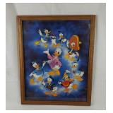 Vintage Donald Duck Framed Poster